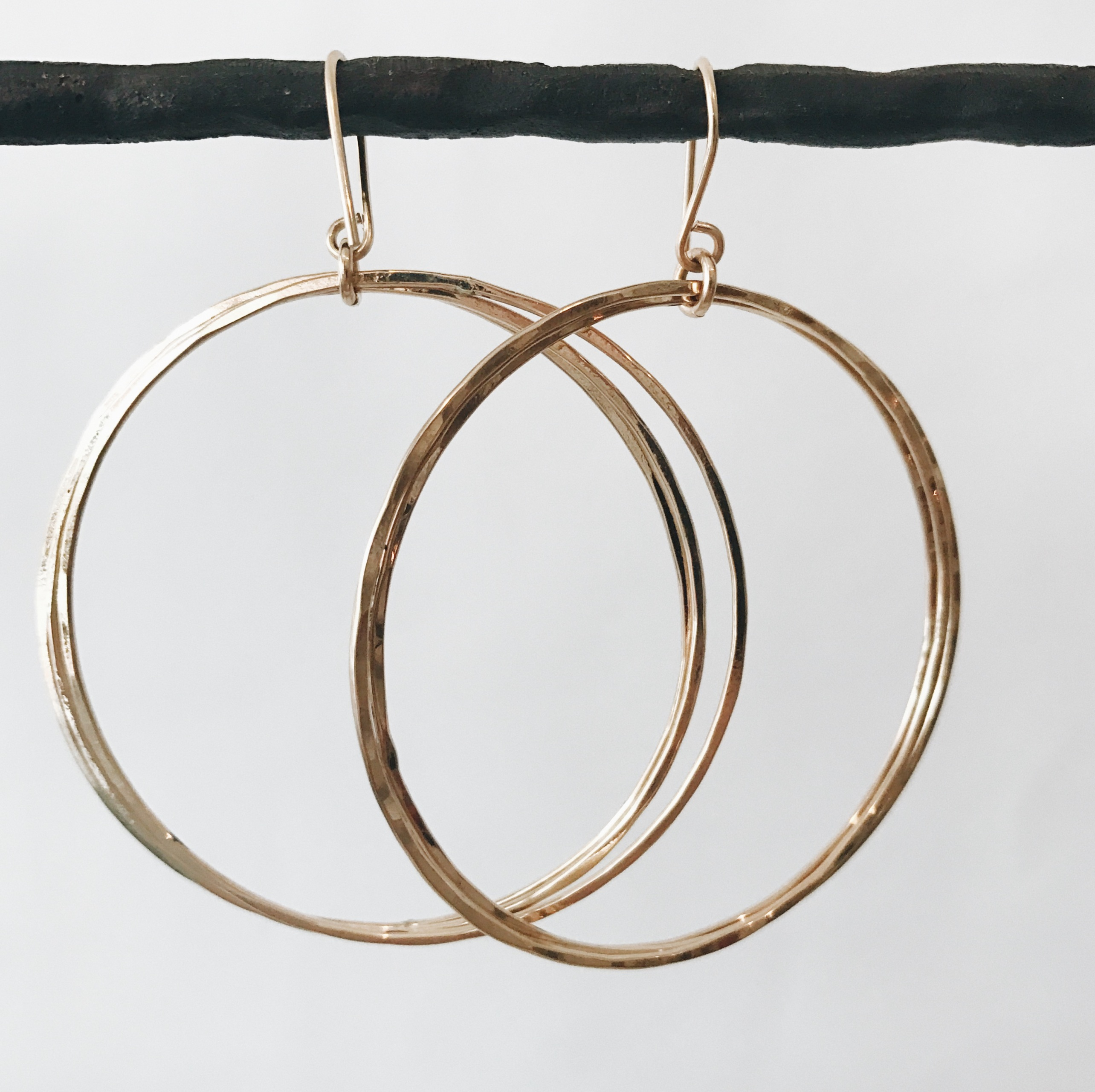 xyz and hood round endless stone earrings products small strand hoop